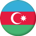 Azerbaijan Country Flag 25mm Flat Back